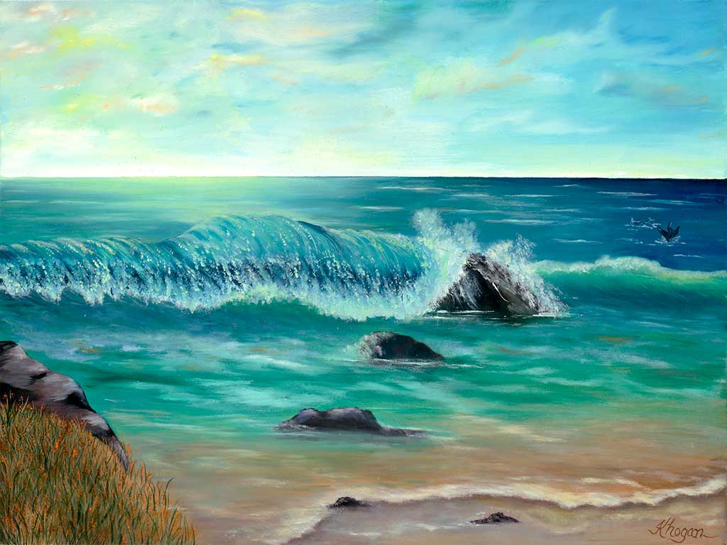 Blue Seascape - Kim Hogan Fine Art