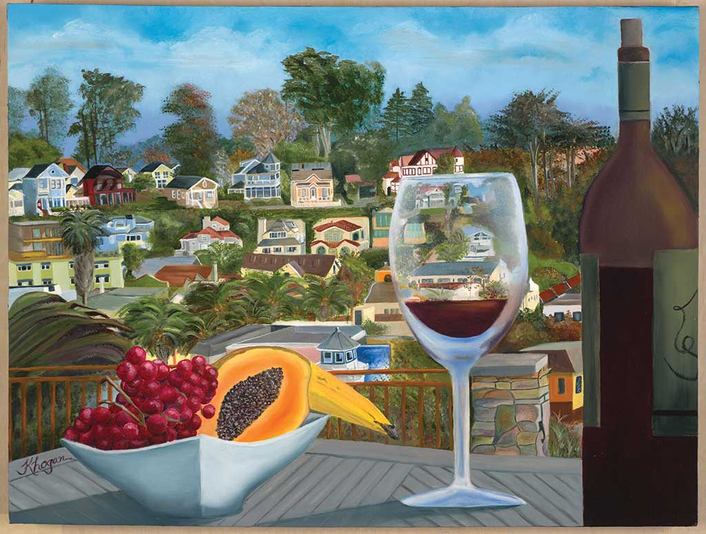 Art and Wine - Kim Hogan Fine Art