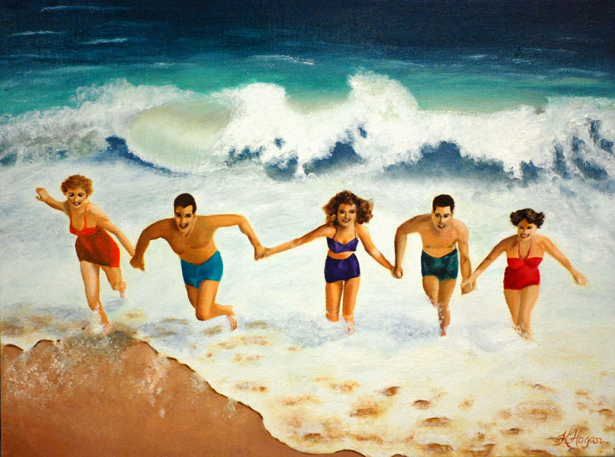 Beach Buddies - Kim Hogan Fine Art