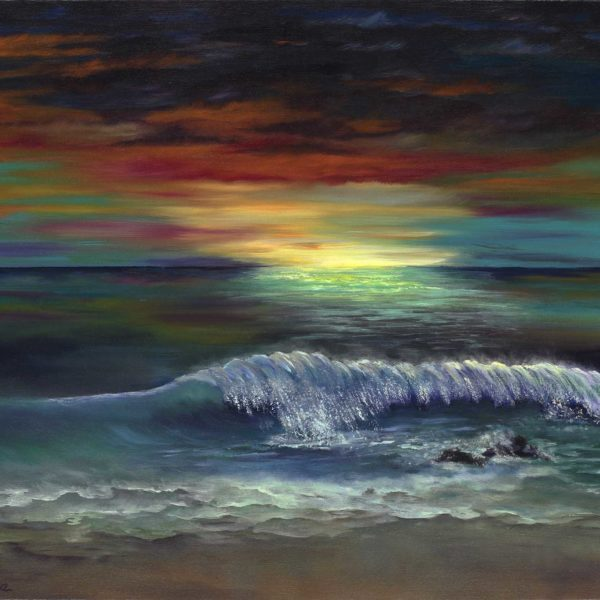 Brilliant Ocean Sunset - Kim Hogan Fine Art