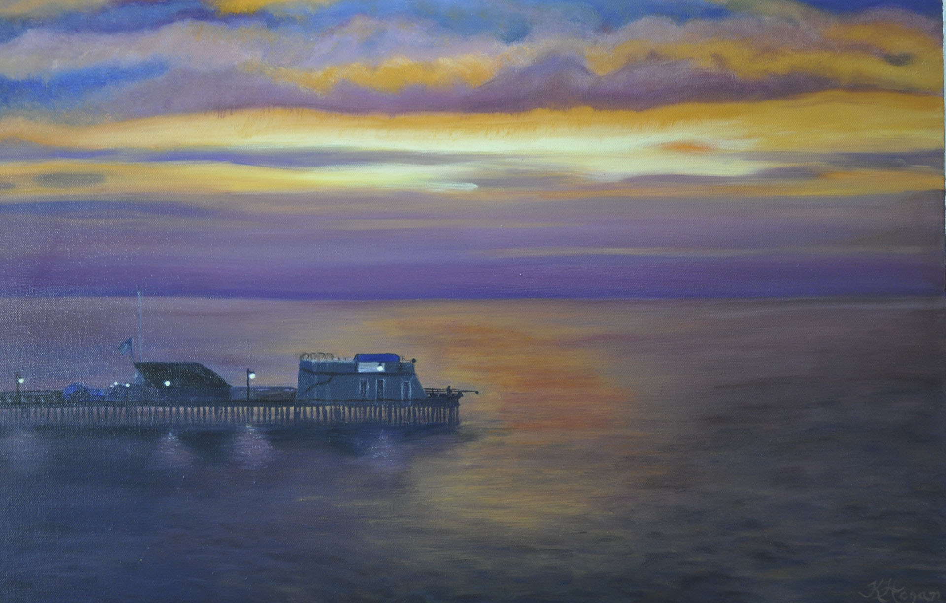 Capitola Sunset - Kim Hogan Fine Art